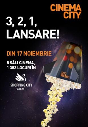 Din 17 noiembrie, vezi cele mai noi filme la Cinema City Shopping City Galați!