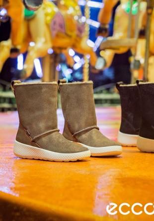 ECCO UKIUK KIDS - cizme pentru picioruşe calde, pe vreme rece